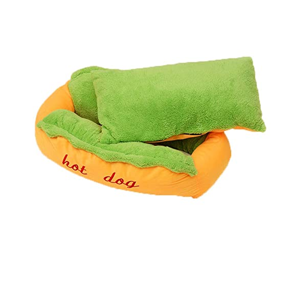 Amazon.com : Clearance! Soft Pet Bed, Vanvler Round Warm Pet Bed for Dogs Cats | U-Shaped Pattern Pad Cushion (Large, Yellow) : Pet Supplies