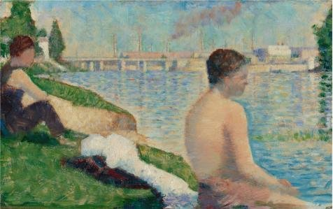 [The Perfect Effect Canvas Of Oil Painting 'Georges Pierre Seurat,Study For A Bathing Place,Asnieres,1883' ,size: 10x16 Inch / 25x40 Cm ,this High Quality Art Decorative Canvas Prints Is Fit For Living Room Decor And Home Decoration And] (Half Doll Half Zombie Costume)