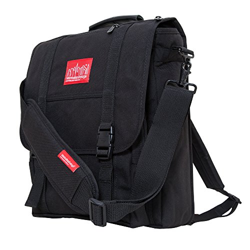 Manhattan Portage Commuter Laptop Bag W Back Zipper, Black, One Size