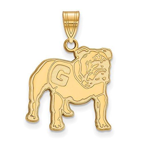 10k Yellow Gold LogoArt Official Licensed Collegiate University of Georgia (UG) Large Pendant by Logo Art