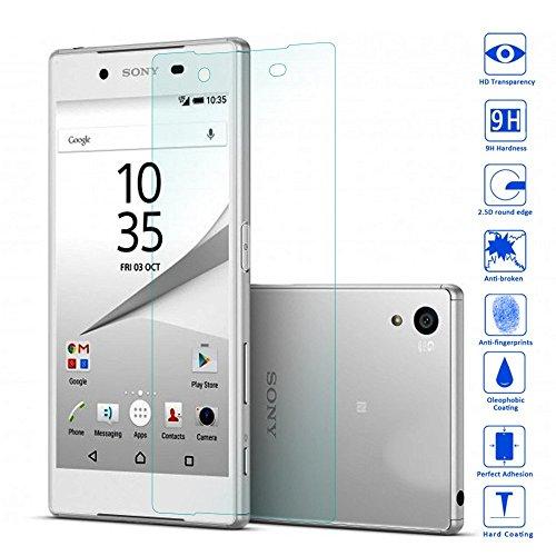 OKCS® TPU Hülle Case Schutzhülle für Sony Xperia Z5 inklusive Wunderglass Panzerglas Screenprotector Schutzfolie Displayschutz Glasprotector