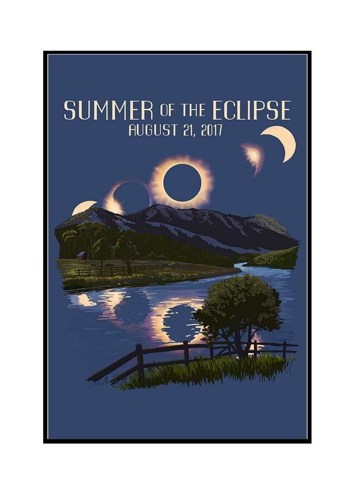 Solar Eclipse 2017 – 夏のEclipse 16 x 24 Framed Gallery Canvas LANT-3P-FC-81135-16x24 B072PZW9GR  16 x 24 Framed Gallery Canvas