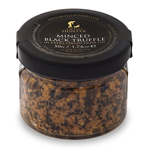 TruffleHunter Minced Black Truffle Paste (1.74 Oz) Preserved in Extra Virgin Olive Oil Garnish Seasoning Gourmet Food - Vegan, Kosher, Vegetarian and Gluten Free - No MSG, Non-GMO