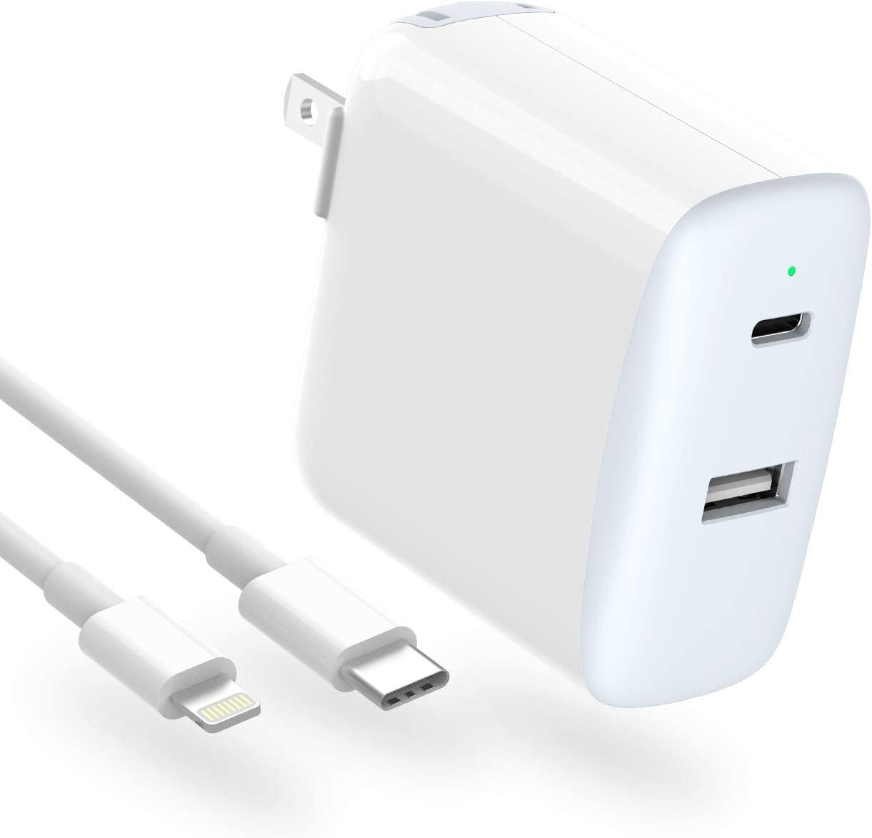 iPhone Fast Charger, 32W 2 Port with 20W USB C Power Adapter, LED,...