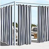 Outdoor decor Coastal Stripe 84 Cabana Panel, Navy