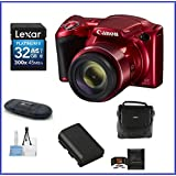 Canon PowerShot SX420 IS Digital Camera [Red] 32GB Bundle, Includes 32GB SDHC Class 10 Memory Card, Spare Battery, Small Camera Bag and more ...