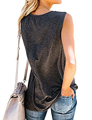 Nlife Women Good Vibes Tank Blouse Round Neck Sleeveless and Long Sleeve Rainbow Casual Ladies Waistcoat Tank Tops for Women