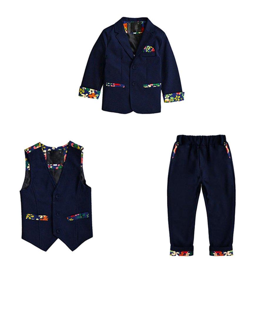 Bambini Ragazzi 3 Pezzi Di Abbigliamento Set Giacca + Gilet Panciotto + Pantaloni Lunghi LaoZanA