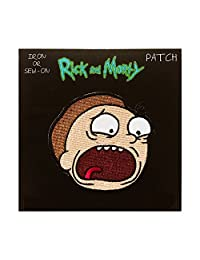 """MORTY, Officially Licensed, Iron-On / Sew-On, Embroidered PATCH - 3"""" x 3"""""""