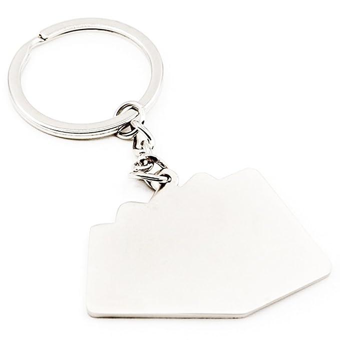 Amazon.com: zeroyoyo Color Plateado Metal Key Ring Poker ...
