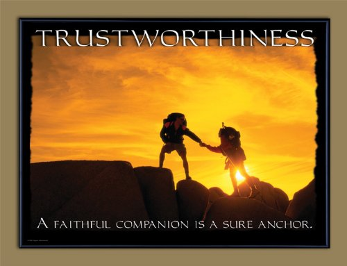 Character Education: Trustworthiness Framed Motivational Poster. Guidance Art (Trustworthiness Poster)