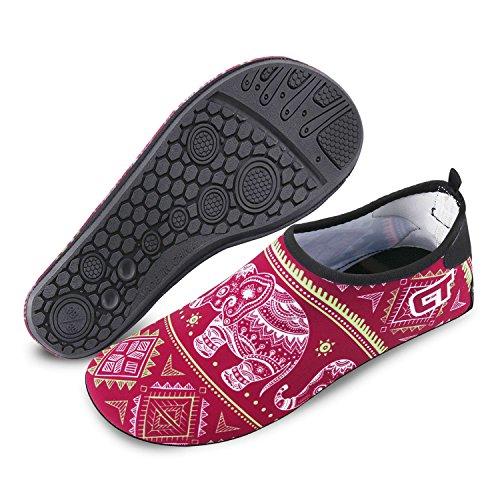 Laufschuhe Herren Surfschuhe Damen Hausschuhe Schuhe amp; Socken FELOVE Gummisohle Elefant Schwimmschuhe Wasserschuhe Neopren für rot Socken Atmungsaktive Barfuß Tauchschuhe Yoga Aqua Strandschuhe ESWvwtwq6