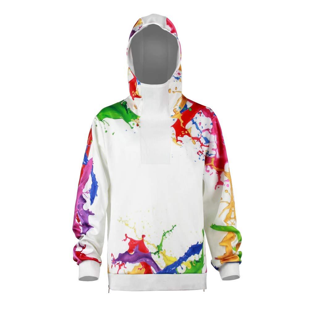 URVIP Unisex Patterns Print Athletic Sweaters Fashion Hoodies Sweatshirts BEU-006 XL by URVIP