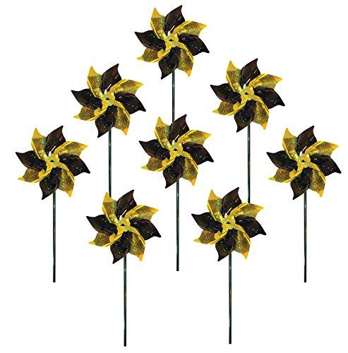 In the Breeze 2756 Yellow & Black Mylar Pinwheel Spinners, 8