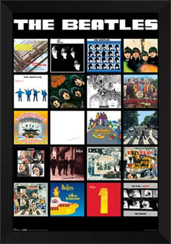 (Beatles - Album Covers 28x40 Framed Art)