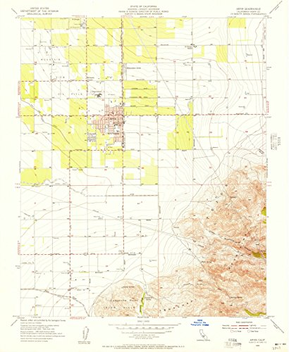 California Maps |1955 Arvin, CA USGS Historical Topographic Map |Fine Art Cartography Reproduction - Ca Map Arvin