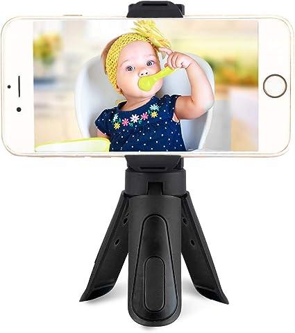 Tenedor del Smartphone, Mini Smartphone Clip de Abrazadera Plegable Soporte para teléfono Estable Soporte Soporte Trípode para teléfono Trípode(Azul): Amazon.es: Electrónica