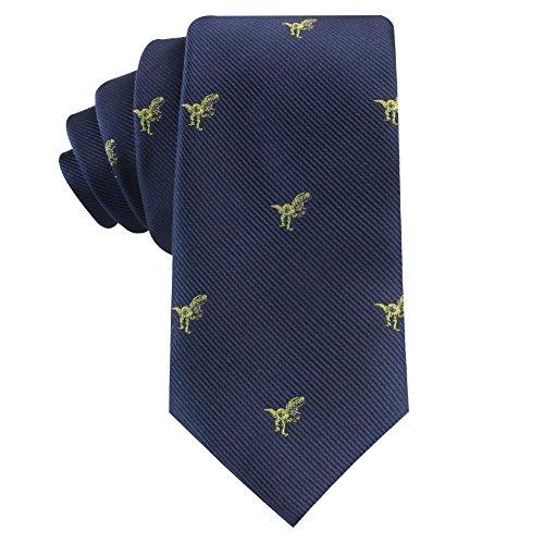 Animal Ties | Woven Neckties | Gift for Men | Work Ties for Him | Birthday Gift for Guys (Green (Dinosaur Tie)