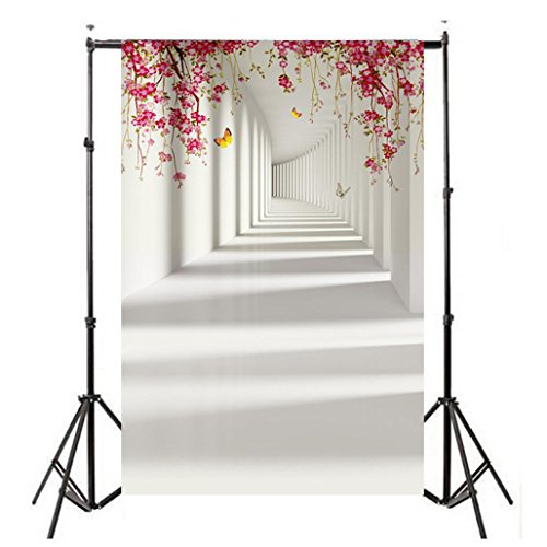 YJYdada Vinyl Wood Wall Floor Photography Studio Prop Backdrop Background 3x5FT (F)