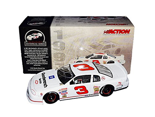 AUTOGRAPHED 1997 Dale Earnhardt Jr. #3 White GM Goodwrench Service (Myrtle Beach Raceway) Historical Series 2003 Release Rare Signed Action 1/24 NASCAR Diecast Car with COA from Trackside Autographs