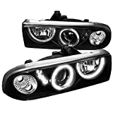 1998 chevy s10 headlight assembly - Spec-D Tuning LHP-S1098JM-RS Chevy S10 Blazer Pickup Black Halo SMD LED DRL Projector Headlights