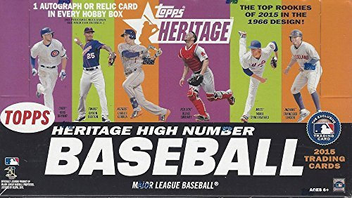 2015 Topps Heritage High Number Baseball Cards Hobby Box (24 Packs/Box, 9 Cards/Pack). 9/23 Release Date! Look for on-card autos and short prints in every box! (Baseball Packs Card Topps 2015)