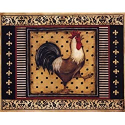 Provence Rooster I - Poster by Kimberly Poloson (20 x 16)