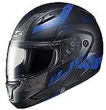HJC Helmets Unisex-Adult Flip-Up-Helmet-Style CL-MAXBT 2 Friction Helmet (MC-2SF Black/Blue, Large)