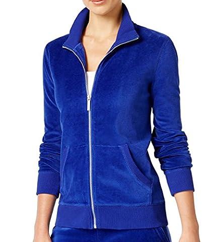 Michael Kors Womens Medium Mock-Neck Full Zip Sweater Blue M - Michael Kors Zip Cardigan
