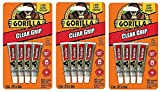 Gorilla Clear Grip Contact Adhesive Minis, Waterproof, Four .2 ounce Tubes, Clear (Тhrее Pаck)