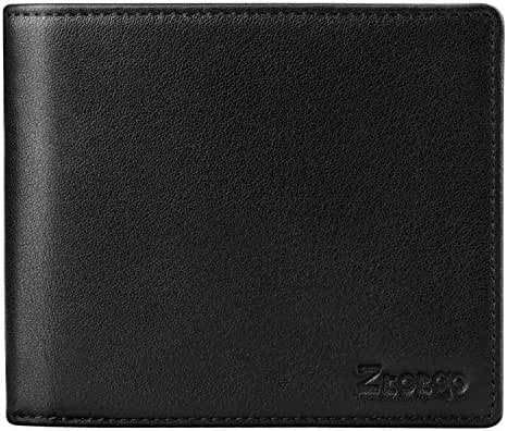 RFID Blocking Leather Wallet for Men, Ztotop Slim Credit Card Protector Bifold Wallet with 2 ID Window, Multi Card Extra Capacity Travel Money Clip