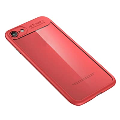For Iphone 8 Accessories,HP95(TM)Luxury Ultra-thin Hard Back Case Protective Bumper for iPhone 8 4.7inch (Red)