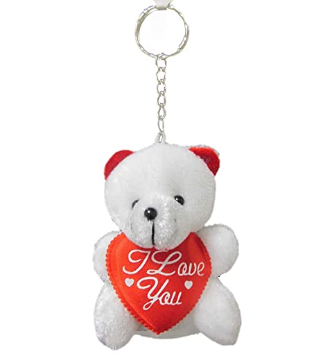Amazon.com: I Love You oso de peluche llavero – Romantic oso ...