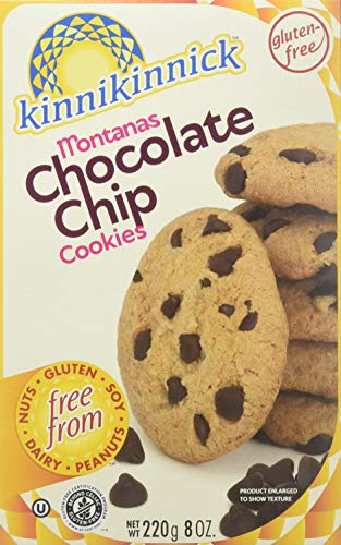 Kinnikinnick Gluten Free Cookies, Montana Chocolate Chip, 8 Ounce (Pack of 6) ()