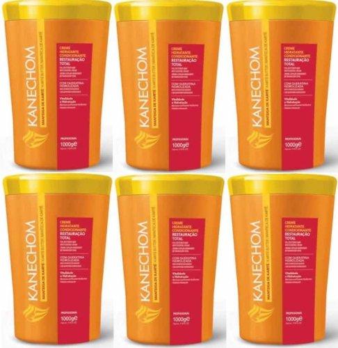 (Pack of 6) KANECHOM Ultimate Karite Butter-Shea Butter (Brazilian Treatment)