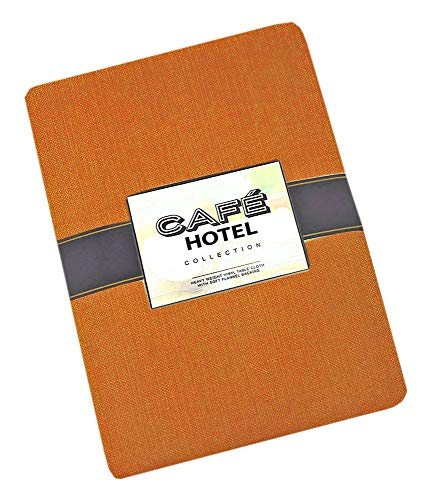 (Cafe Hotel Linen Look Solid Color Heavy 4 Gauge Vinyl Flannel Backed Tablecloth, Indoor/Outdoor Wipe Clean Tablecloth, 52 Inch x 52 Inch Square,)