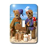 3dRose LLC lsp_13534_1 Dinky Bears Little Pirates - Single Toggle Switch