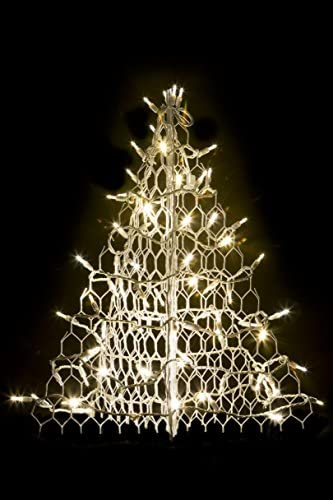 Crab Pot Christmas Trees 2 with White Wire and 80 Clear LED Lights