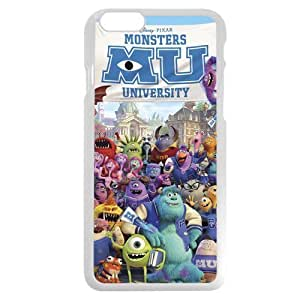 Customized White Plastic Disney Cartoon Monsters University Case Cover For Apple Iphone 5/5S Case, Only fit Iphone 5/5S