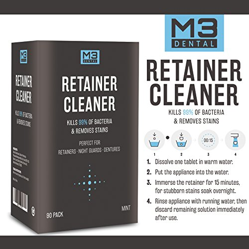 Premium Dental Denture and Retainer Cleaner Tablets (3 Month Supply) by M3 Dental (Image #1)