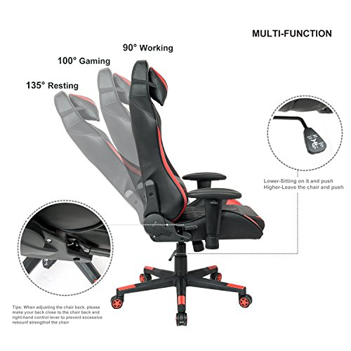 ... LCH 400 lbs Capacity Racing Gaming High-Back Chair Ergonomic Oversized Computer Chair PU Leather ...  sc 1 st  Gaming Chairs & LCH Racing Gaming High-Back Chair Ergonomic Oversized Computer Chair ...