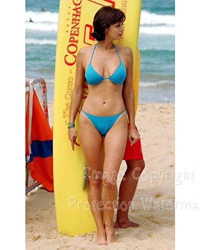 Catherine Bell Beach Bikini Camel Toe Candid Pose 8x10 Photo ()