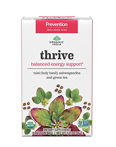 ORGANIC INDIA Prevention Wellness Teas – Thrive, 6 Pack Case
