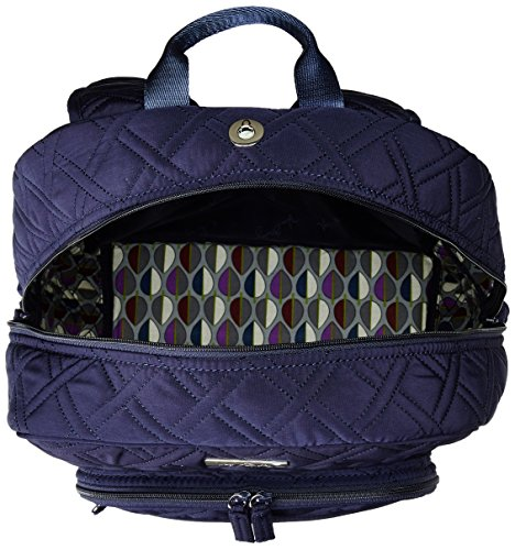Women's Campus Tech Backpack, Microfiber, Classic Navy by Vera Bradley (Image #3)