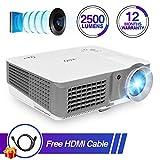 HD Movie Projector 1080p 2500 Lumens 150