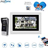 Jeatone 7 Inch Wireless/Wired Wifi IP Video Door Phone Doorbell Intercom Entry System with 1200TVL Wired Camera Night Vision Support Remote Unlocking Recording Snapshot For Villa …