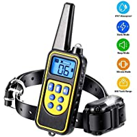 Dog Training Collar 2020 New Upgraded, Shock Collar for Dogs with Beep Vibration Shock,Rechargeable Dog Training Collar with Remote,IPX7 Waterproof Shock Collar for Small Medium Large Dogs