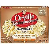 Orville Redenbacher's Naturals Light Classic Butter & Sea Salt Popcorn, 2.69 Ounce Classic Bag, 6-Count, Pack of 6