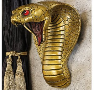 Egyptian Snake Goddesses Decorative Sculptural Home