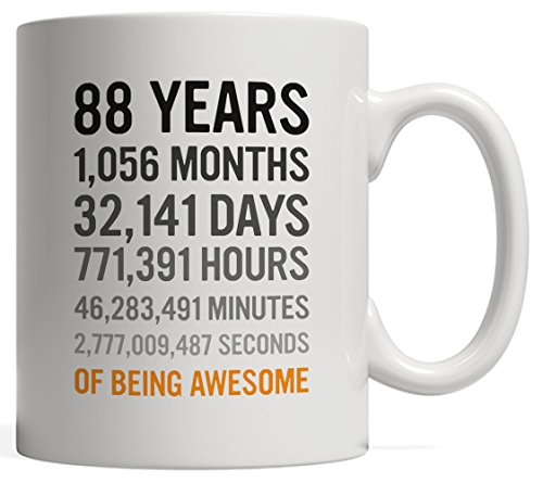 (88th Birthday Gift 88 Eighty Eight Years Old, Months, Days, Hours, Minutes, Seconds of Being Awesome! For Adults, Great Grandma Grandpa, Men or Women - From Great Granddaughter Grandson!)
